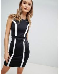 Zibi London - Monochrome Bodycon Dress - Lyst