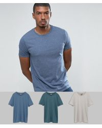 ASOS | T-shirt With Crew Neck 3 Pack Save | Lyst