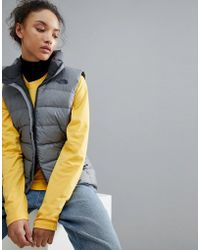 The North Face - Women's Nuptse Vest In Grey - Lyst