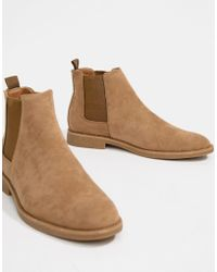 New Look - Chelsea Boots In Light Stone - Lyst