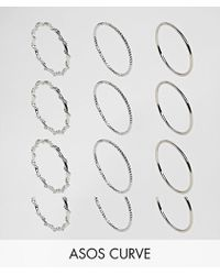 ASOS - Pack Of 12 Wrap And Faceted Rings - Lyst