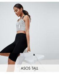 a2ee688259bdc7 ASOS - Asos Design Tall Basic legging Shorts - Lyst