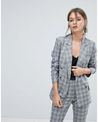 Oasis - Double Breasted Check Blazer - Lyst