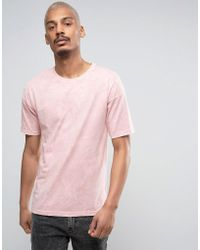 Black Kaviar - Oversized T-shirt In Pink Acid Wash - Lyst