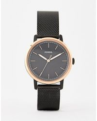 Fossil - Es4467 Neely Mesh Watch In Black 34mm - Lyst