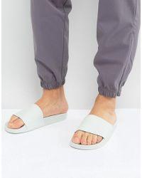 Adidas Originals | Adilette Slides In Green Ba7540 | Lyst