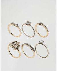 ALDO - Jewelled Stacking Rings - Lyst