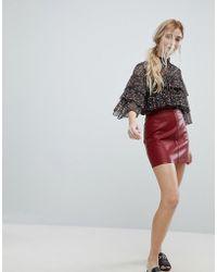New Look   Pu Mini Skirt   Lyst