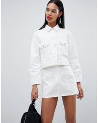 Weekday - Cropped Denim Jacket - Lyst