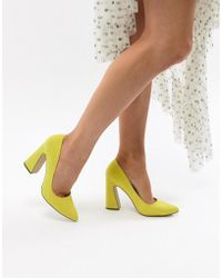 Missguided - Flared Heel Court Shoe - Lyst