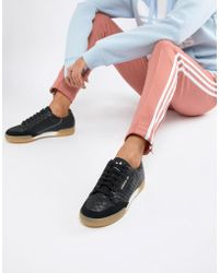adidas Originals - Continental 80 s Sneakers In Black With Gum Sole - Lyst 99dc74066