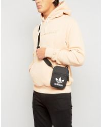 adidas Originals - Trefoil Flight Bag In Black Bk6730 - Lyst