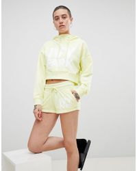 Ivy Park - Logo Jersey Shorts In Yellow - Lyst