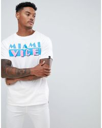 Pull&Bear - Miami Vice T-shirt In White - Lyst