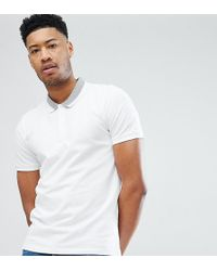 SELECTED - Polo Shirt With Tipping - Lyst