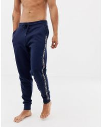 6de4a9ca Tommy Hilfiger - Authentic Cuffed Sweatpants Side Logo Taping In Navy - Lyst