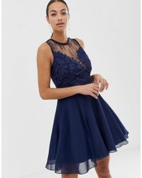 AX Paris - High Neck Skater Dress - Lyst