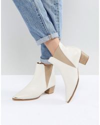 Office - Azalea White Leather Ankle Boots - Lyst