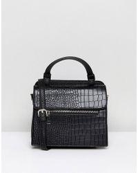 Lavand - Mock Croc Across Body Bag With Handle - Lyst