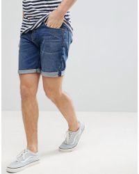 ASOS DESIGN - Denim Shorts In Slim Dark Wash - Lyst