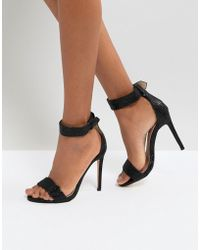 Lost Ink | Becca Black Heeled Sandals | Lyst