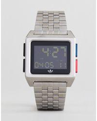 adidas - Z01 Archive Digital Bracelet Watch In Silver - Lyst