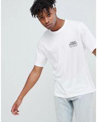 Cheap Monday - Boxy Logo T-shirt White - Lyst