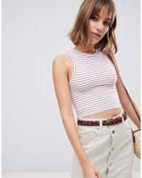 62247d00f470e Free People Ditsy Stripe Knit Tank Top - Lyst