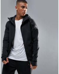 adidas - Athletics Zne 2 Hoodie In Black Bq6925 - Lyst