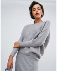 Mango - Knitted Ribbed Sweater Co Ord - Lyst