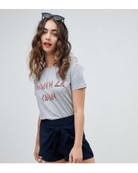 River Island - Tie Front Shorts - Lyst