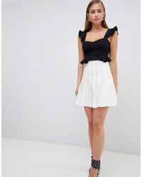 PrettyLittleThing - Pleated Mini Skirt - Lyst