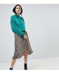 868c44690c4e Women's Bershka Mid-length skirts Online Sale - Lyst