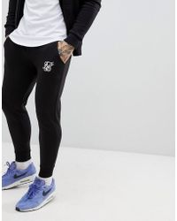 SIKSILK - Jogger In Black With Logo - Lyst