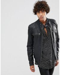 Goosecraft | Matte Leather Biker Jacket In Black | Lyst