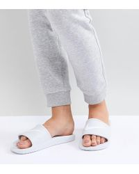 Nike - Kawa Slider Sandals In White - Lyst