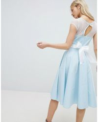 Hell Bunny - 50's Prom Dress With Bow Detail - Lyst