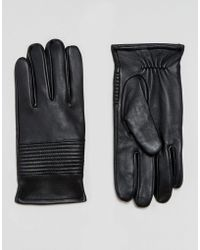 ASOS - Leather Gloves In Black - Lyst