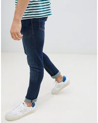 Jack & Jones - Jeans In Slim Fit Rinsed Blue Denim - Lyst