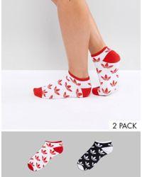 Adidas Originals   Originals 2 Pack Logo Socks   Lyst