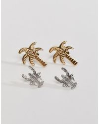Nylon - Palm And Crab Earring Set - Lyst