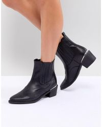 Missguided - Western Ankle Boot - Lyst