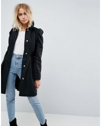 ASOS - Skater Coat With Statement Sleeve - Lyst