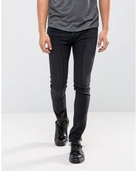 Cheap Monday - Tight Skinny Jeans Twisted Black Deconstructed - Lyst