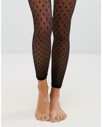 ASOS - Mesh Dot Footless Tights - Lyst
