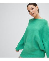 PrettyLittleThing - Oversized Batwing Sweater In Green - Lyst