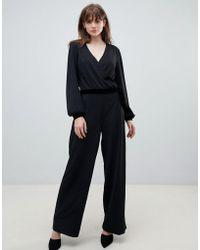 Pieces - Kloe Luxe Wrap Jumpsuit - Lyst