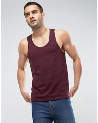 ASOS - Vest In Burgundy - Lyst