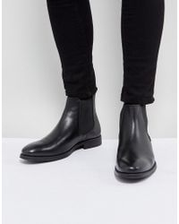 Dune - Chelsea Boots In Black Leather - Lyst