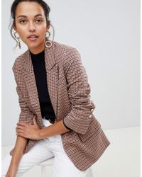 Oasis - Heritage Check Blazer In Check - Lyst